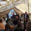 Burmistrz odwiedził malborskich harcerzy na obozie w Papierni