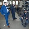 Burmistrz z wizytą w firmie Nyborg-Mawent S.A.