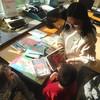 Pasowanie na czytelnika w bibliotece SP 9